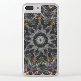 Purple Passion Clear iPhone Case
