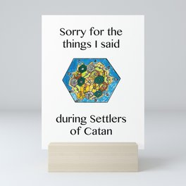 Catan, Settlers of Catan, Board Game, Geek Art, Nerd Art Mini Art Print