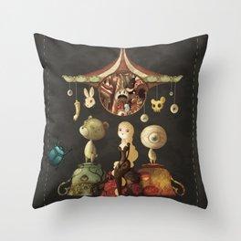 freaky christmas Throw Pillow