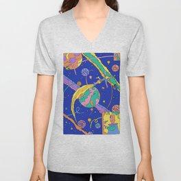 Interplanetary Travel Unisex V-Neck