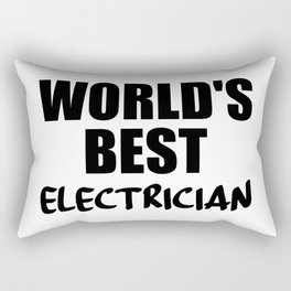 electrician best in the world Rectangular Pillow