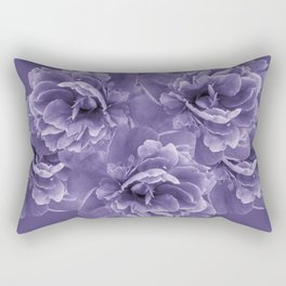 Ultra Violet Peony Flower Bouquet #1 #floral #decor #art #society6 Rectangular Pillow
