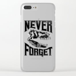 Never Forget T-Rex Clear iPhone Case