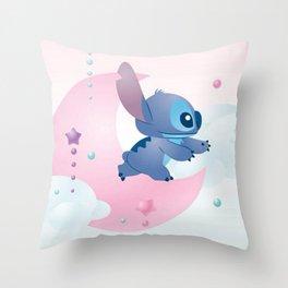 Stitch Moon Throw Pillow