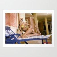 bikini Art Prints featuring Bikini by Retro Nude