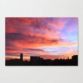 City sunset Canvas Print