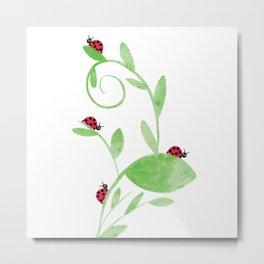 Ladybirds Metal Print