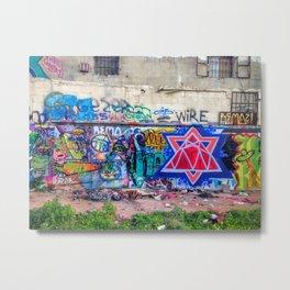 Tel Aviv Street Art Jewish Star Metal Print