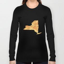 New York Pattern Map Art Long Sleeve T-shirt