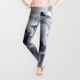 Grey Peony Bloom Leggings