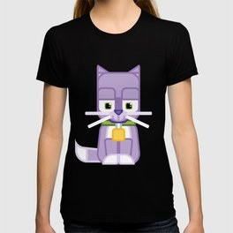 Super cute animals - Cute Kitty Cat Purple T-shirt