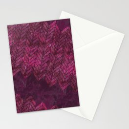 Painted Chevron Stationery Cards