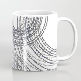 Abstract Stitched Circles Coffee Mug
