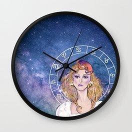 Cancer zodiac horoscope sign beautiful girl Wall Clock