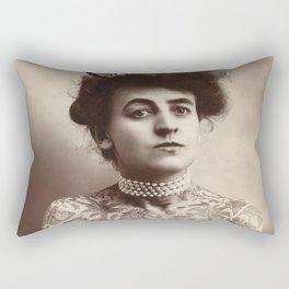 Maud Wagner Tattoo Photograph Rectangular Pillow