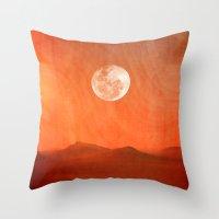 desert Throw Pillows featuring Desert by Viviana Gonzalez