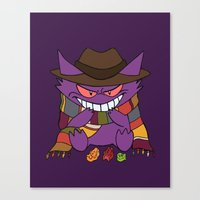 gengar Canvas Prints featuring Gengar Who? by Cat Vickers-Claesens