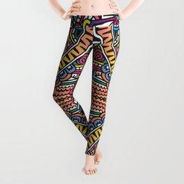 centipede graphic geometric doodle Leggings