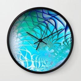 Web of the Universe (cool sea blue-green) Wall Clock