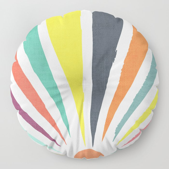 Rainbow ray Floor Pillow