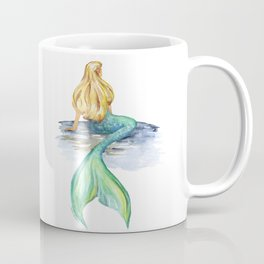 Mermaid Watercolor Coffee Mug