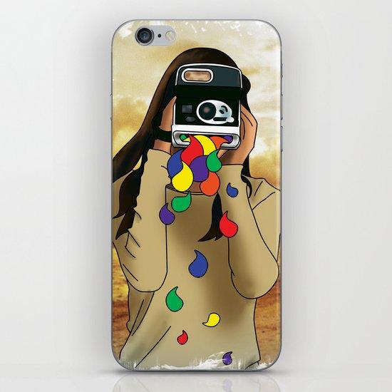 Polaroid Girl iPhone & iPod Skin