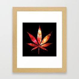 Weed : High Times orange red pink  Galaxy Framed Art Print