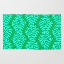diamondback in lime & turquoise Rug