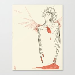 Too Much Heart Canvas Print