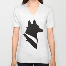 Monsieur Renard / Mr Fox - Animal Silhouette Unisex V-Neck