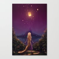 tangled Canvas Prints featuring Tangled by Westling