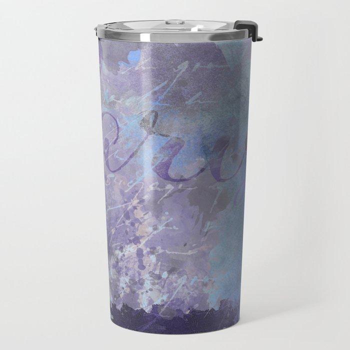 Purple Paris Watercolor Art Travel Mug
