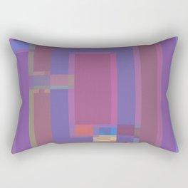 Blue Rug Rectangles Rectangular Pillow