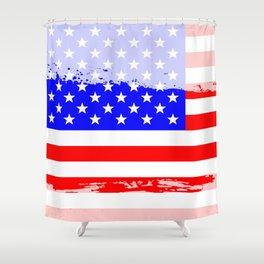 USA Flag Splash Shower Curtain