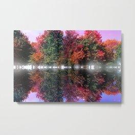 Tree Waves Metal Print