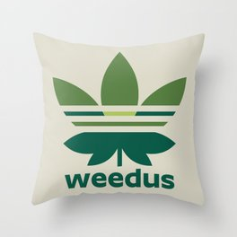 Weedus Throw Pillow