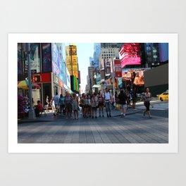 hustle & bustle of new york city Art Print