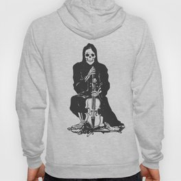 Violinist skull - grim reaper - cartoon skeleton - halloween illustration Hoody
