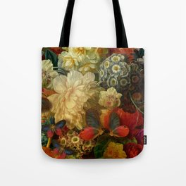 """""""Baroque Spring of Flowers and Butterflies"""" Tote Bag"""
