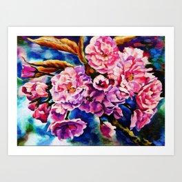 Bloom Floral Sun Fuchsia Pink Art Art Print