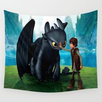 dragon Wall Tapestries featuring Dragon by nurfiestore2u