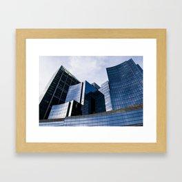 Glass Pillars Framed Art Print