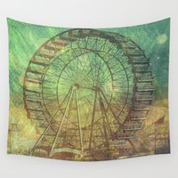 ferris wheel Wall Tapestries featuring Ferris Wheel by Creative Vibe