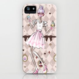 Pastel Cupcake Dessert Girl iPhone Case