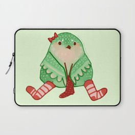 Cozy Canaries-Knitting Canary Laptop Sleeve