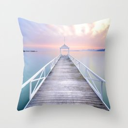 Cote d'Azur Calm Throw Pillow