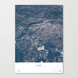 Lyon - City Map Canvas Print