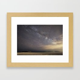 Shooting stars and the Milkyway Framed Art Print