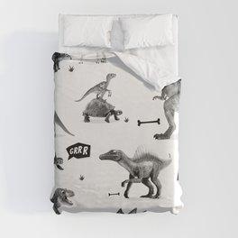 Dinosaur Hunt Duvet Cover