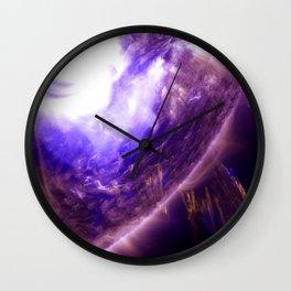 Purple Star Wall Clock